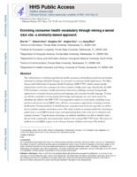 Enriching consumer health vocabulary through mining a social Q&A site