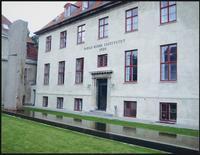 Copenhagen. Outside of the Niels Bohr Institute