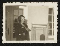Candid photograph of Margit Dirac