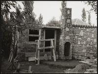 Balatonszabadi, Hungary. Traditional stone hut