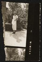 Budapest, Hungary. Standing portrait of an unidentified woman