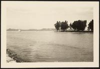 Balatonföldvár, Hungary. Scenic image of Lake Balaton from the shore