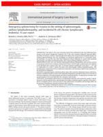 Emergency splenectomy for trauma in the setting of splenomegaly, axillary lymphadenopathy, and incidental B-cell chronic lymphocytic leukemia
