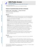 Facets of Conscientiousness and risk of dementia.