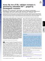Across the tree of life, radiation resistance is governed by antioxidant Mn, gauged by paramagnetic resonance.