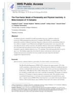 Five-Factor Model of Personality and Physical Inactivity