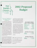 2002 Proposed Budget
