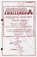 Challenge College Ministry Tour 2003