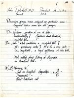Notes of Dr. Charles R. Mathews