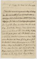 Letter from Thomas Campbell to Mary Campbell