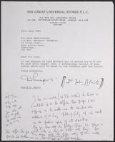 Letter to Leon Radzinowicz from David E. Myers