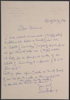 Letter to unknown from Leon Radzinowicz
