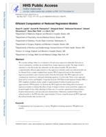 Efficient Computation of Reduced Regression Models.