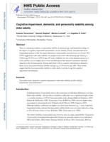 Cognitive Impairment, Dementia, and Personality Stability Among Older Adults.