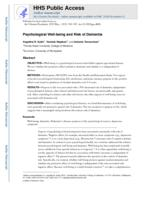 Psychological well-being and risk of dementia.