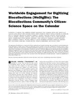 Worldwide Engagement for Digitizing Biocollections (WeDigBio)