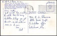 Ernest I. Thomas Jr. postcard to mother, Martha Thorton Thomas, March 16, 1944