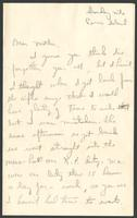 "Ernest ""Boots"" Thomas letter to his mother, Martha Thorton Thomas, July 27, 1942"