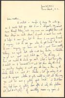 "Ernest ""Boots"" Thomas letter to his mother, Martha Thorton Thomas, June 25, 1943"