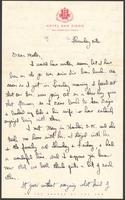 "Ernest ""Boots"" Thomas letter to his mother, Martha Thorton Thomas, June 23, 1944"