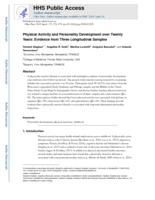 Physical Activity and Personality Development over Twenty Years