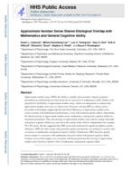 Approximate Number Sense Shares Etiological Overlap with Mathematics and General Cognitive Ability.