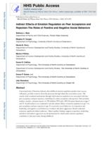 Indirect Effects of Emotion Regulation on Peer Acceptance and Rejection:The Roles of Positive and Negative Social Behaviors.