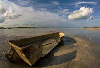 Abandoned Fishing Boat near Shore