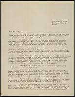 Letter from Vivian Williams to Earl Vance