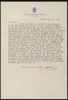 Letter from Chris P. Heinlein to Earl Vance