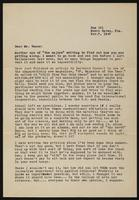 Letter from Betty Dowd to Earl Vance