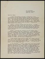 Letter from Edna Hoffman Evans to Earl Vance with newspaper clipping
