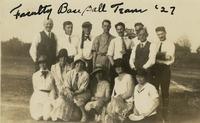 1927 Faculty Baseball Team
