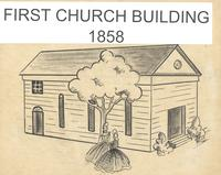Drawing of the first church building, First Baptist Church, Tallahassee, Fla.