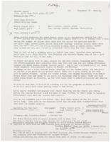 Acteens report from Betty King ending in May 1986