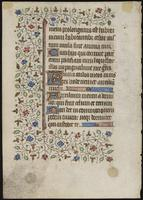 Leaf from a Book of Hours, verso