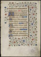 Leaf from a Book of Hours, recto