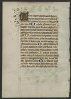 Book of Hours, single leaf, verso