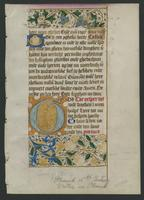 Book of Hours, single leaf, recto