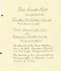Fenton McArthur Prewitt Scrapbook