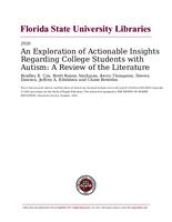 Exploration of Actionable Insights Regarding College Students with Autism