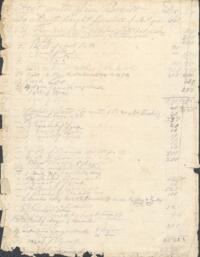 Record of accounts with various persons