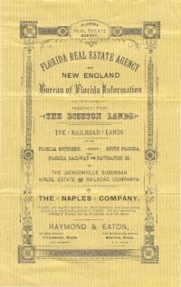 Florida Real Estate Agency promotional pamphlet