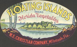 Floating Islands brand Florida vegetables label