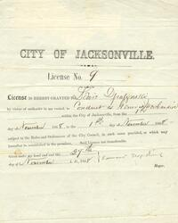 Business license for the City of Jacksonville