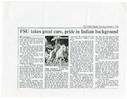 FSU takes great care, pride in Indian background