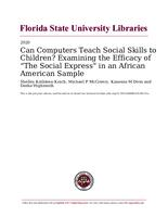 """Can Computers Teach Social Skills to Children? Examining the Efficacy of """"The Social Express"""" in an African American Sample"""