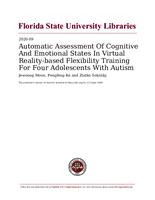 Automatic Assessment Of Cognitive And Emotional States In Virtual Reality-based Flexibility Training For Four Adolescents With Autism