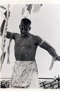Man dressed as an American Indian