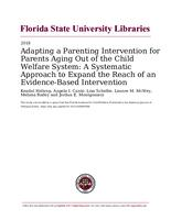 Adapting a Parenting Intervention for Parents Aging Out of the Child Welfare System